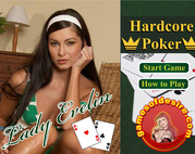 Juega Poker con Lady Evelin